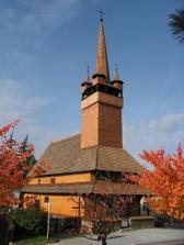 dřevěný kostelík v Blansku, tady máme ohlášky a bude i zkouška obřadu