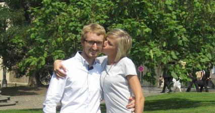 27.7.2012 se oženil švagr na Novoměstské radnici, jen s rodiči a svědky