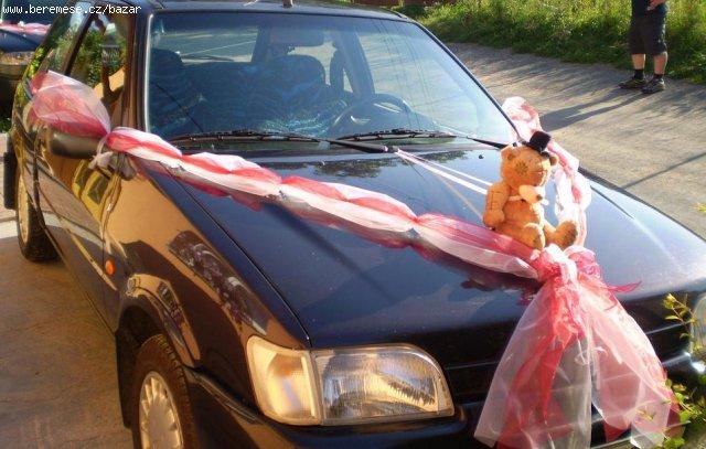 Janča a Jirka - přípravy na červenec 2012 - Šerpa na auto ženicha od hvezdicka07