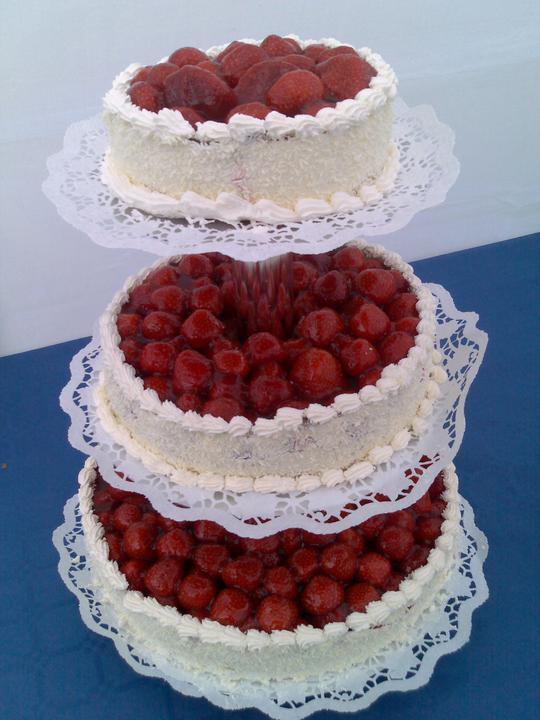 Janča a Jirka - přípravy na červenec 2012 - nastávající miluje jahody