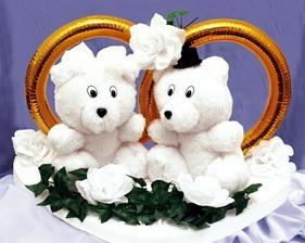Myšky na auto nevěsty, roztomilé
