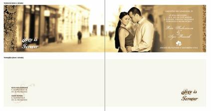 naše svadobné oznámenie :)