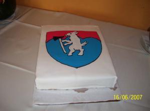 Jedna z našich tort (Katka ďakujeme) naša koza - čistý marcipán (bola úžasná)
