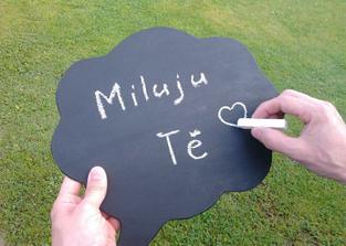 Tabulka ve tvaru komixové bubliny pro focení na svatbě :-)
