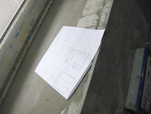 Obklad záchodu probíhá přesně podle nákresu :-D