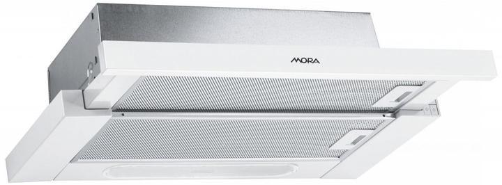 Bydlení - zařizování - Mora OT 631 W - výkon odsavače 250 m3/h, hlučnost  56 dB, ovládání knoflíky, halogenové osvětlení 2 x 56W