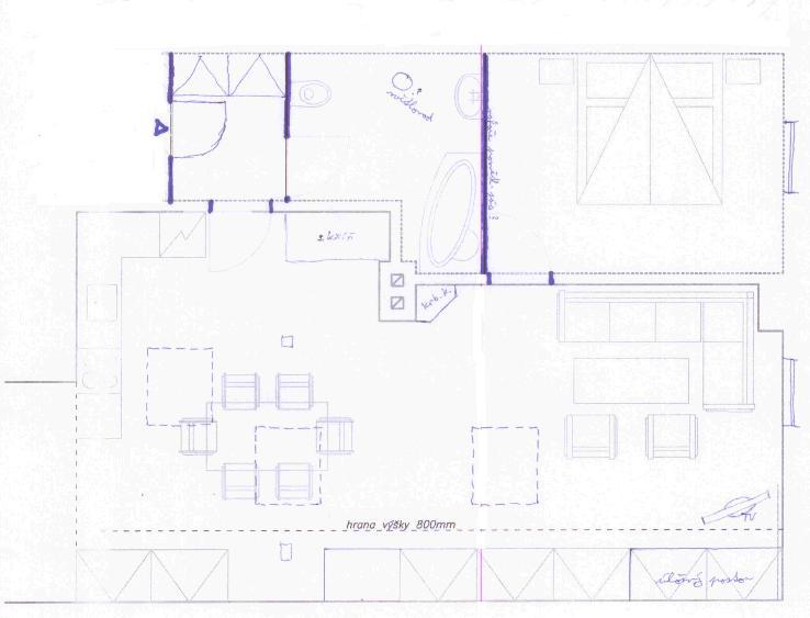 Podkrovní byt - prvotní návrh... Byt B