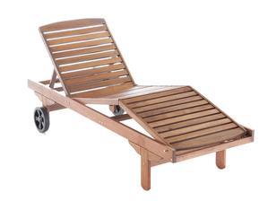 polohovatelné dřevěné lehátko ARA, je vyrobeno z tvrdého tropického dřeva Meranti - cena od 2680Kč (vč.DPH)