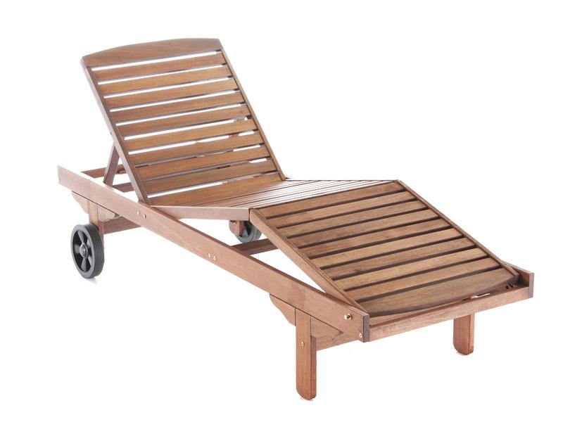 Zahrada - polohovatelné dřevěné lehátko ARA, je vyrobeno z tvrdého tropického dřeva Meranti - cena od 2680Kč (vč.DPH)