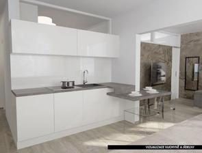 mezi kuchyni a koupelnu dát okno pro prosvětlení koupelny denním světlem
