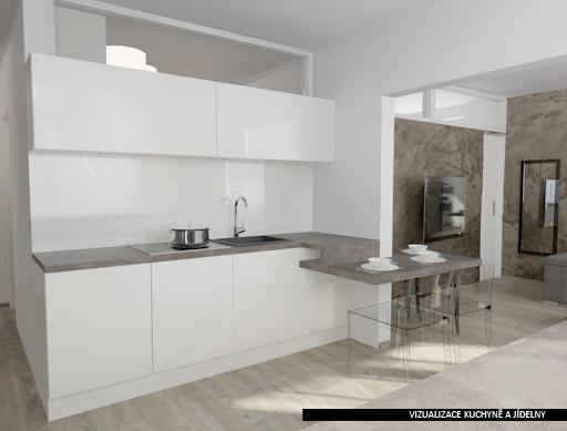 Dvougenerační panelákový byt = dvě jádra - mezi kuchyni a koupelnu dát okno pro prosvětlení koupelny denním světlem