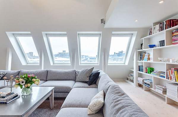 Podkrovní byt - hlavně co nejvíce světla :-)