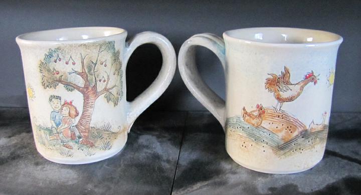 Bydlení - zařizování - miluju originály - ruční práce jednoho maďarského keramika