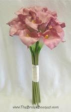 kytica bola takáto, ale rôzne odtiene ružovej