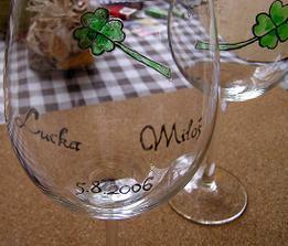svadobné poháre - tiež vlastná tvorba