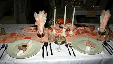 hostina v Club restaurant