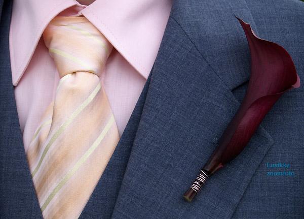 Lusikka - ženíchova kravata a pierko
