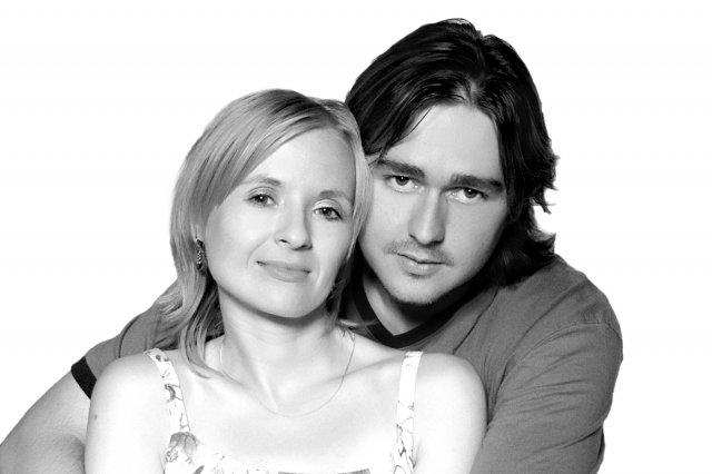 Janka a Petko - toto sme my...a predna strana nasho vlastnorucnevyrobeneho oznamka..