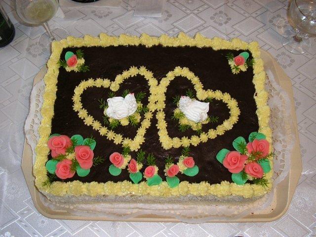 Janka a Petko - torta z oficialnych zasnub - 22.7.2007