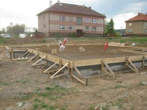 příprava před betonem