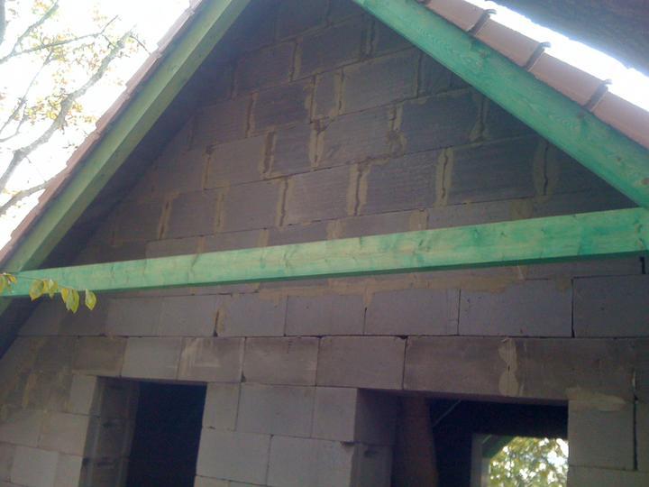 Stavba chata - Murovanie stitu