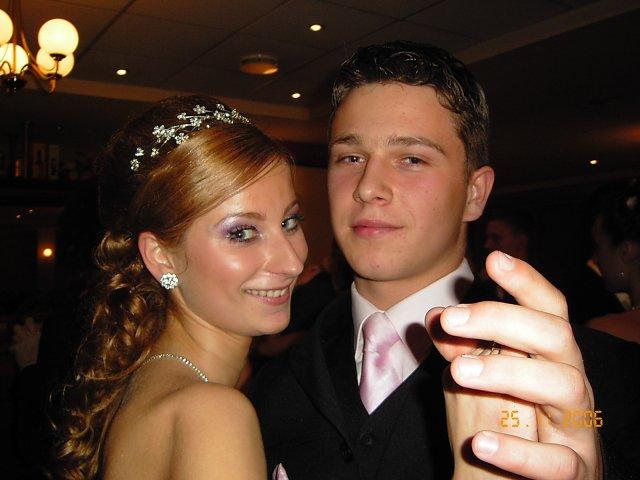 My :-) Lucka+Janik - To sme my dvaja na mojej stužkovej. Bola nádherná.