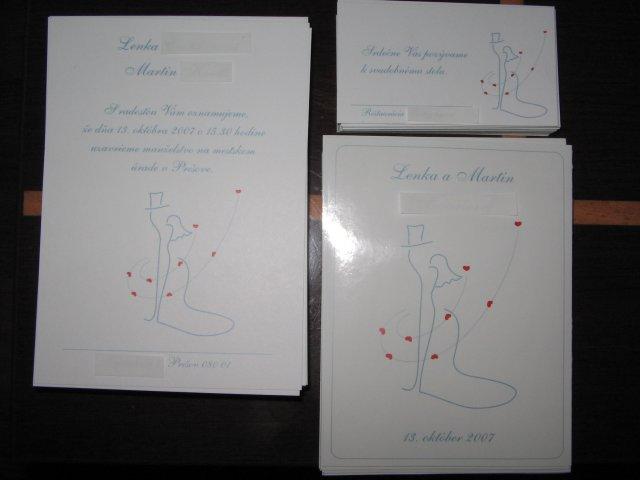 Prípravy na 13.10.2007 - Oznámenia, pozvánky a etikety na výslužkové vínko