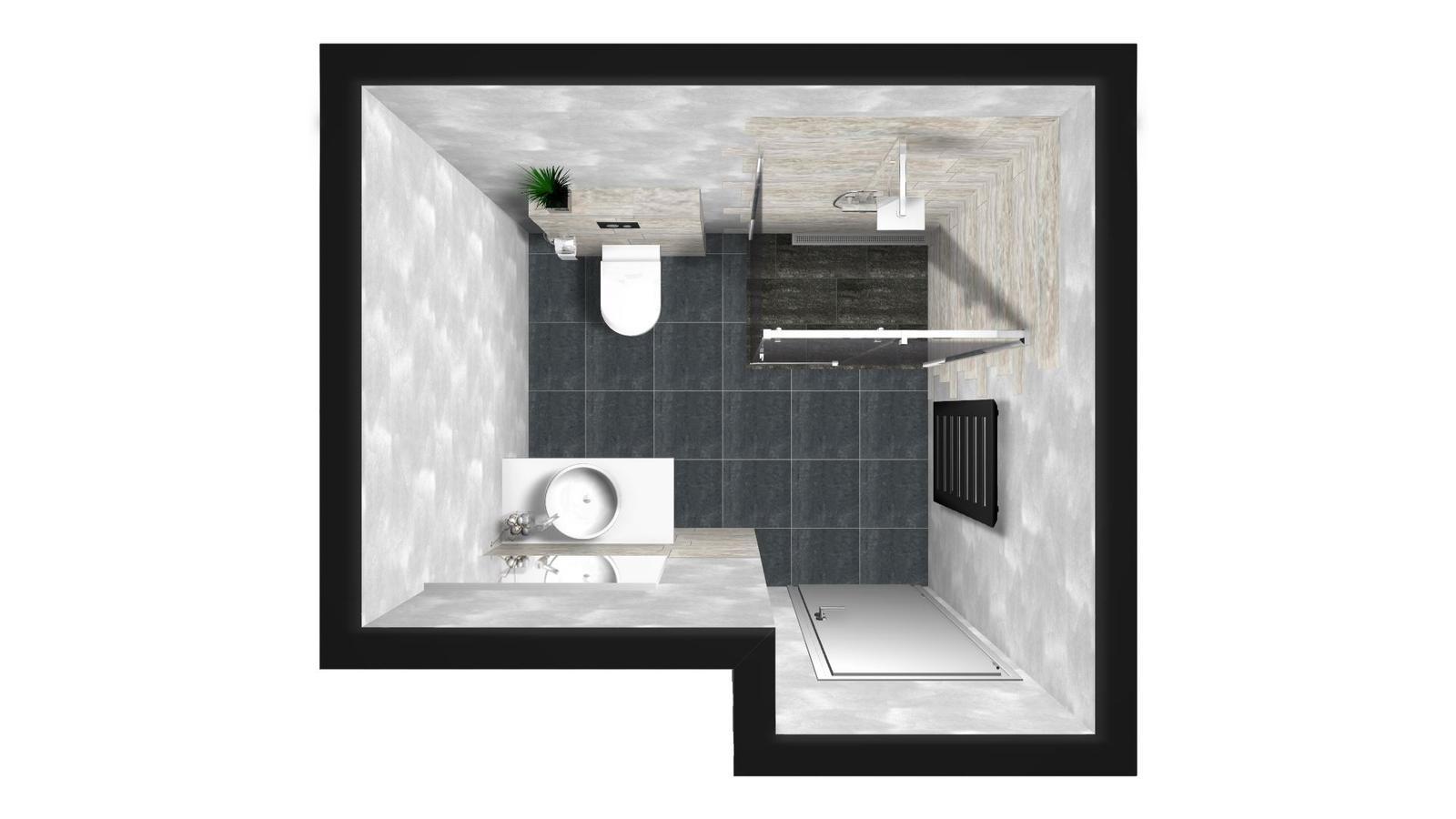 Splněný sen ... domeček - navrh spodni koupelny - vymyslela jsem si sama :)