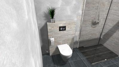 kombinace dreva a kamene s betonovou sterkou proste luxus