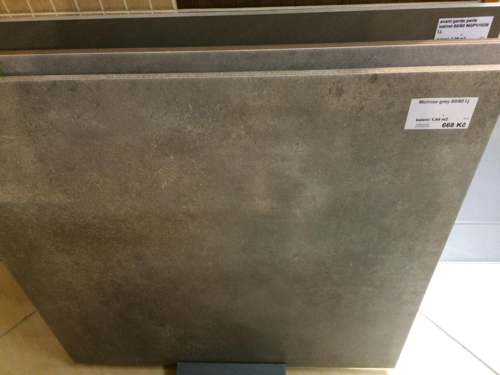 Splněný sen ... domeček - Vybrana dlazba za kuchynskou linku - ten beton vypada luxusne :) uz jenom naplanovat tu kuchyn ...