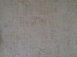 Detail tapety v pracovni - barvicku je blbe videt ale je matova ;) do pracovne ako stvorena...