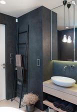 horni koupelnu v tomhle duchu ... jenom podlaha bude svetle sedy beton