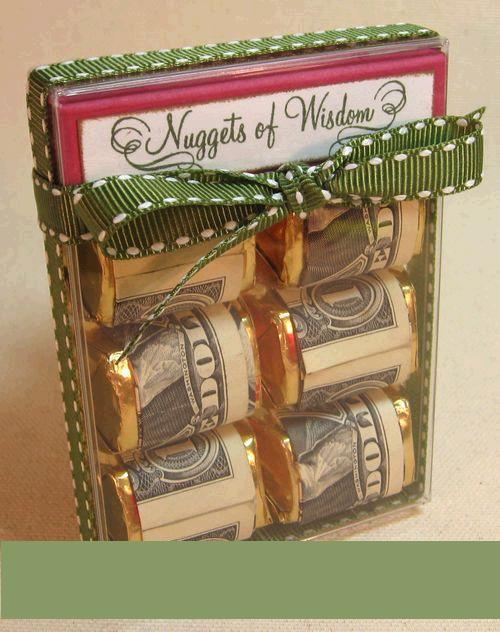 Originálně zabalené peníze jako dárek - bonboniera