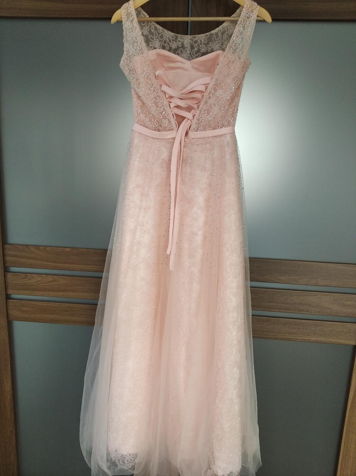Spoločenské šaty ružové - Obrázok č. 2