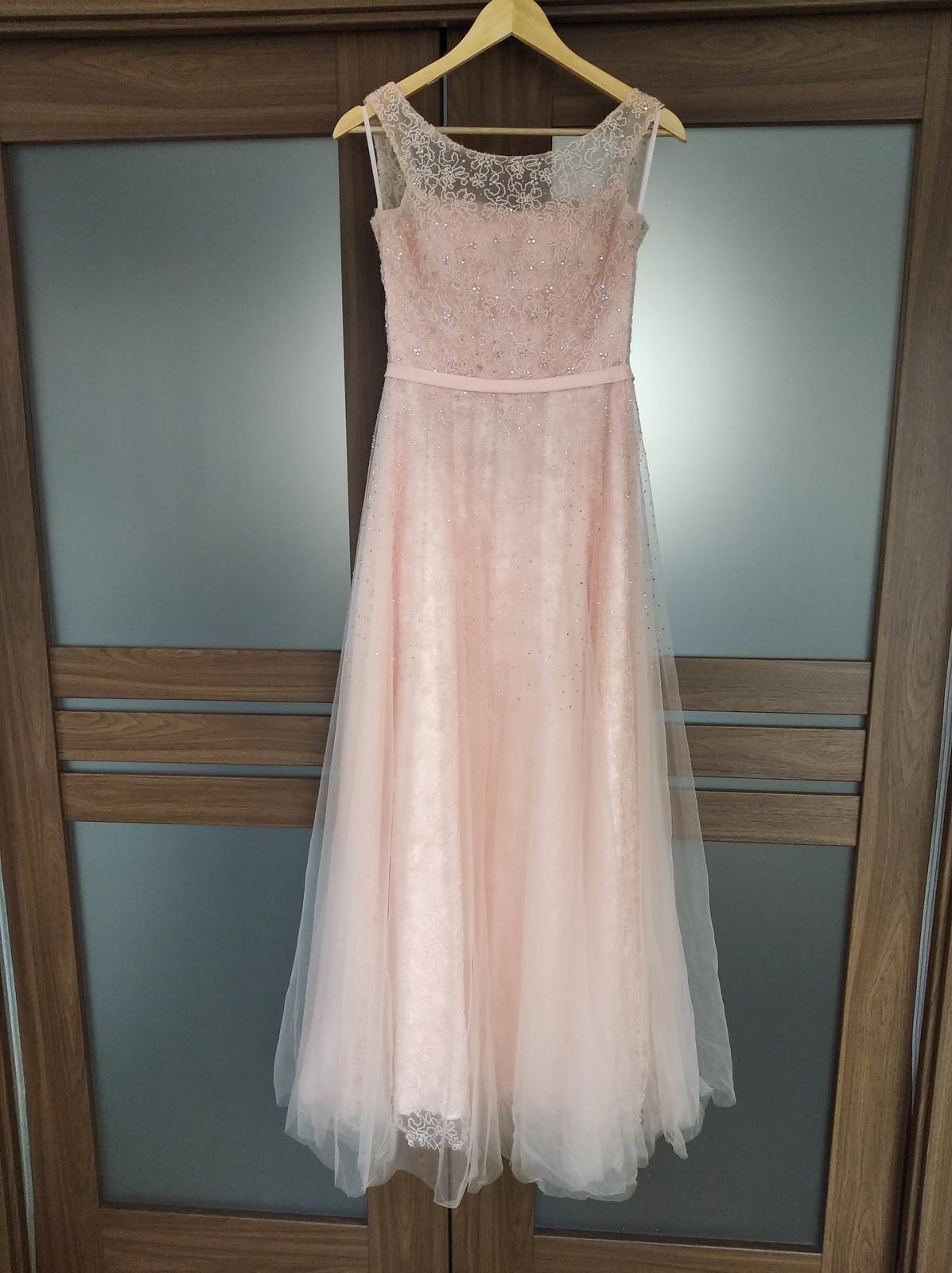 Spoločenské šaty ružové - Obrázok č. 1