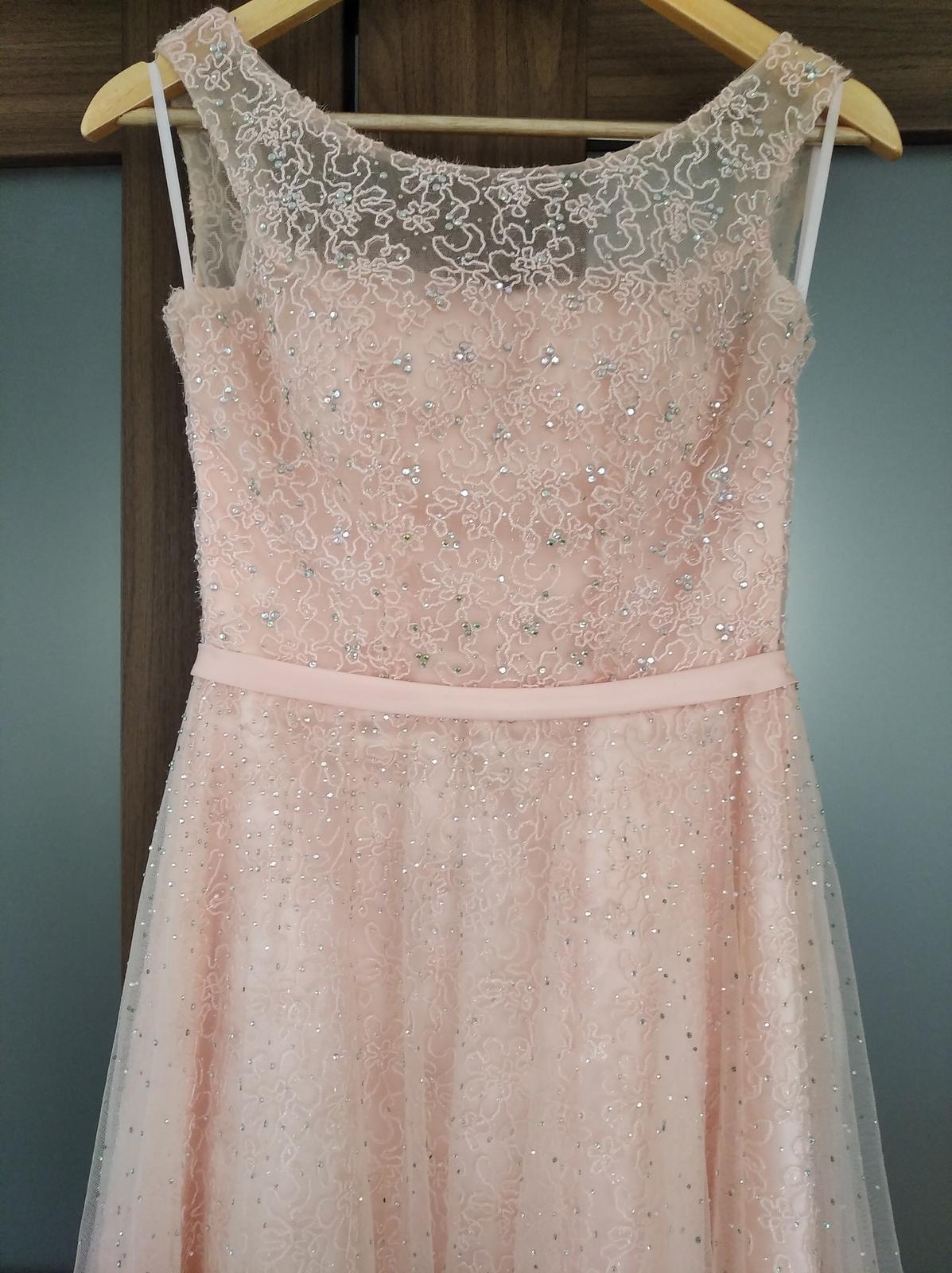 Spoločenské šaty ružové - Obrázok č. 3