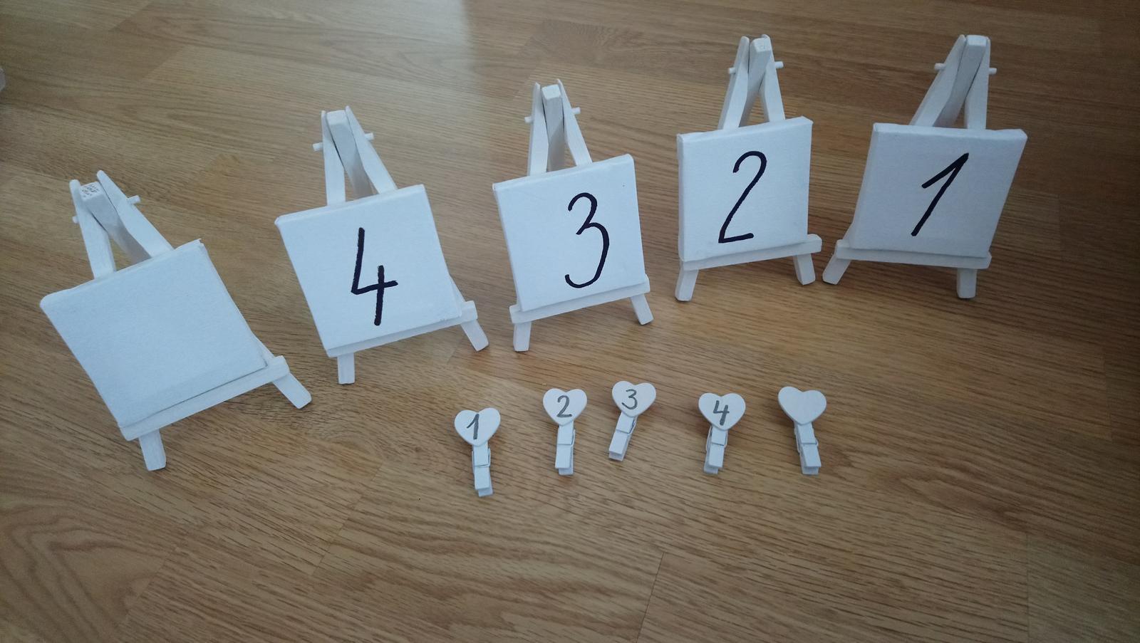Číslovanie stolov  - Obrázok č. 1
