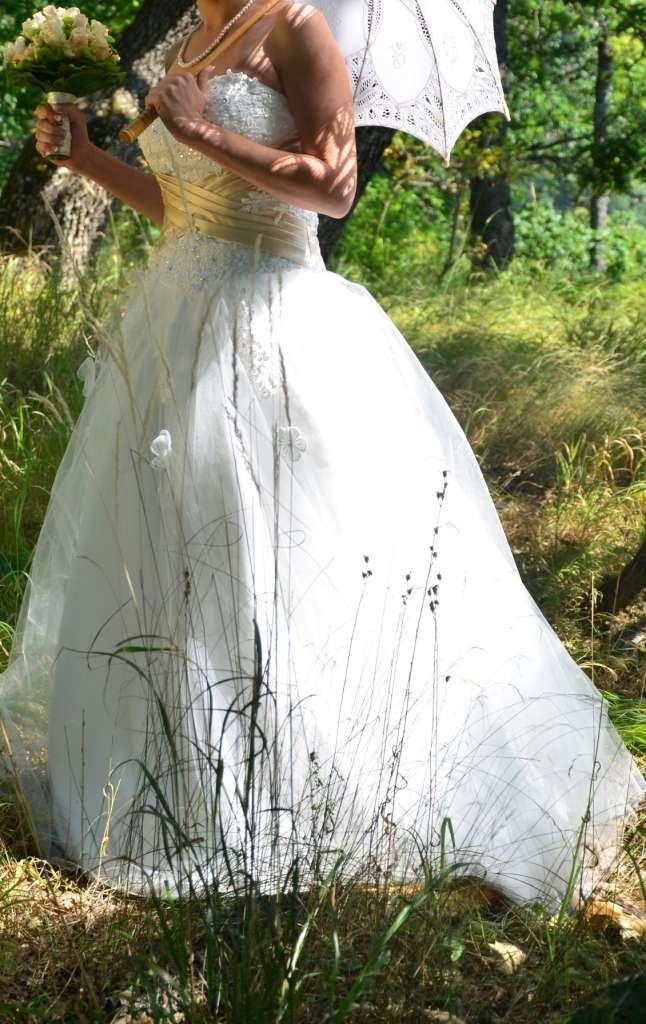 Princeznové šaty farby slonovina(ivory)+šampanské - Obrázok č. 3