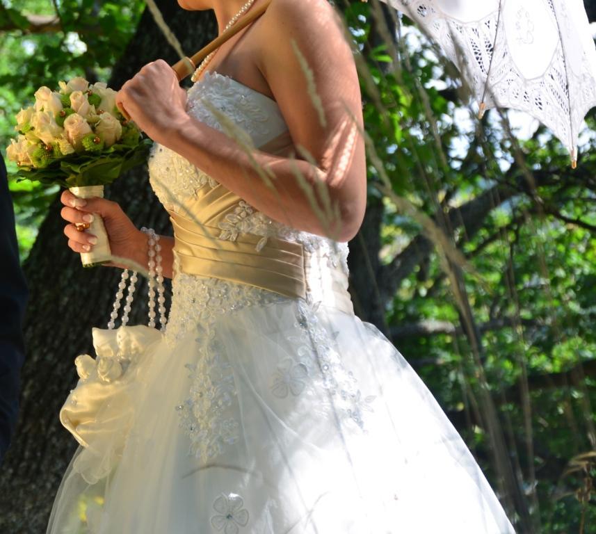 Princeznové šaty farby slonovina(ivory)+šampanské - Obrázok č. 4