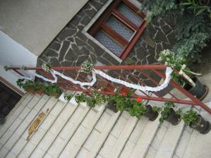 ozdoba na schodach
