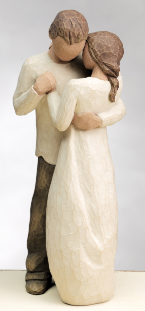 Naše malá puntíkovaná svatba - Figurky na dort, sice vypadáme úplně jinak, ale moc se mi to líbí...