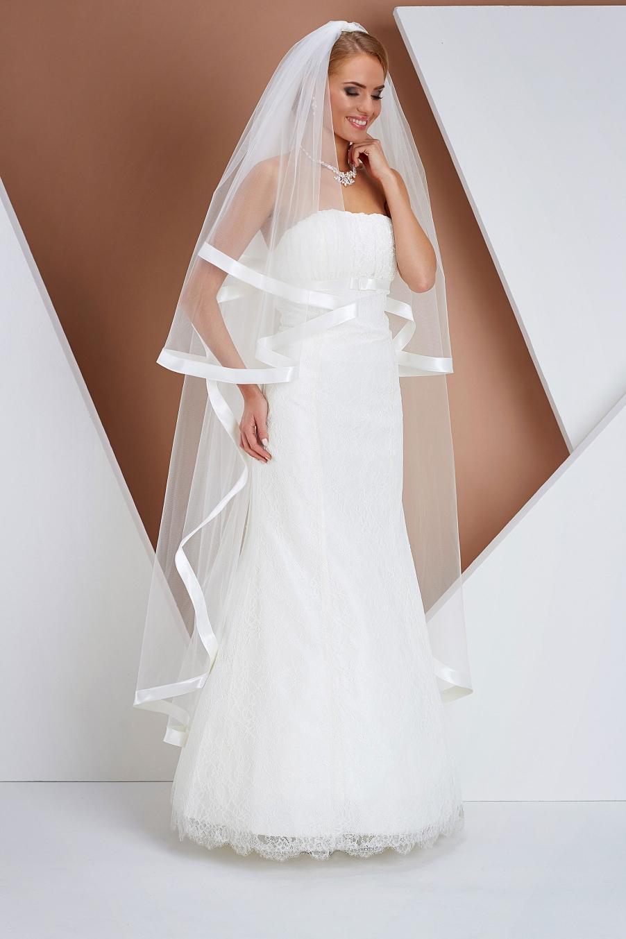 Ivory svadobný závoj - Obrázok č. 1