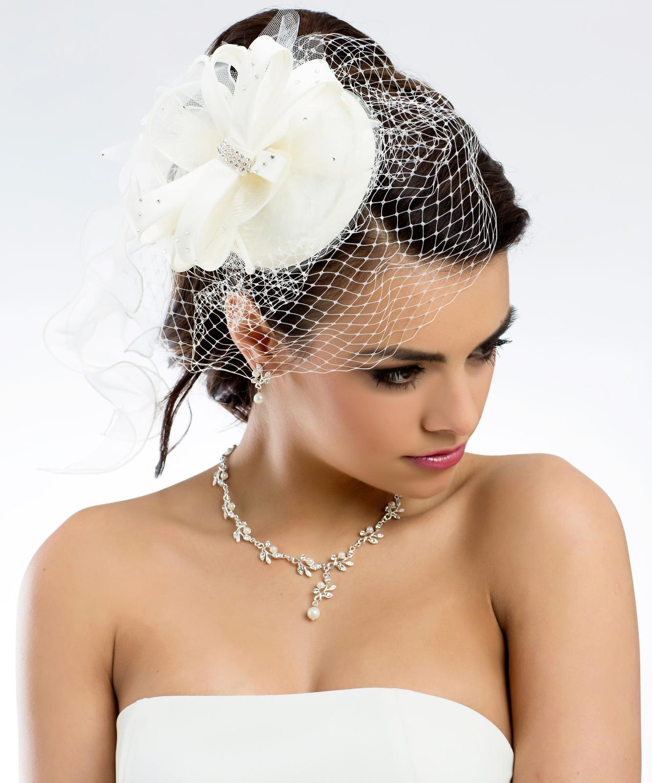 Svadobná sieťka do vlasov - Obrázok č. 1
