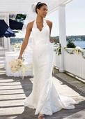 Celočipkové svadobné šaty, 38
