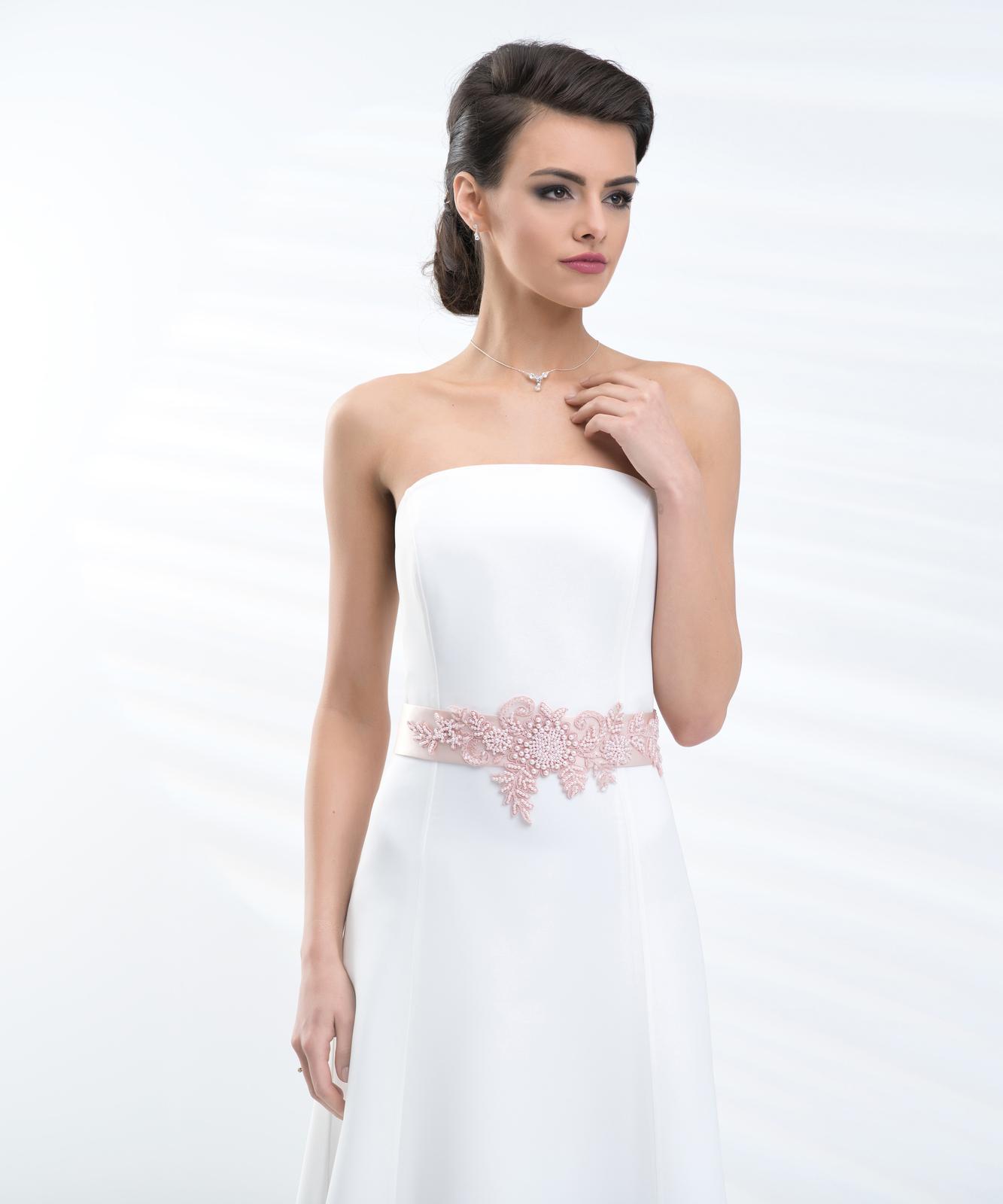 Ružový opasok na svadobné šaty - Obrázok č. 1