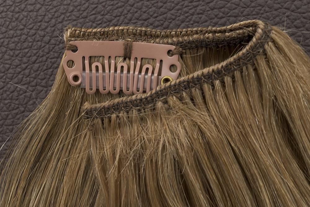 Ľudské Clip in vlasy Tmavá blond 50cm  - Obrázok č. 3