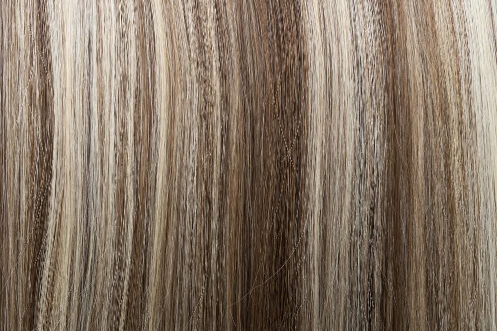 Ľudské Clip in vlasy Tmavý melír 50cm - Obrázok č. 2
