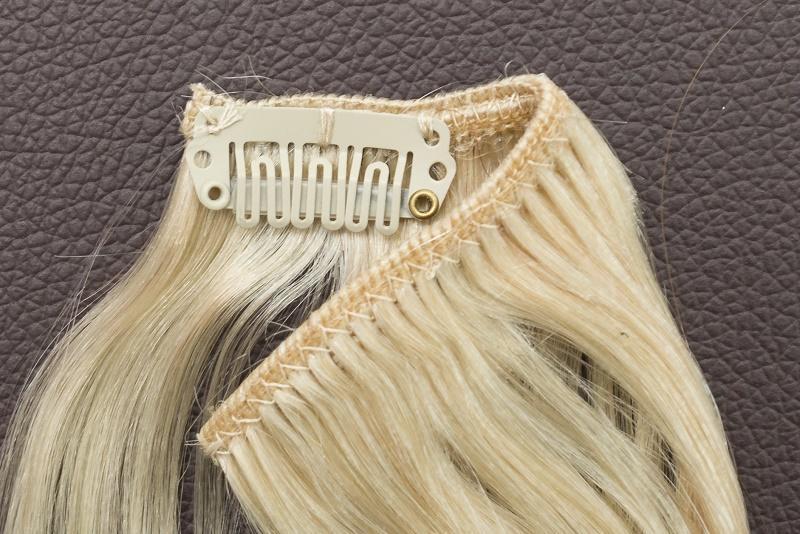 Ľudské Clip in vlasy Platinová blond 50cm - Obrázok č. 4