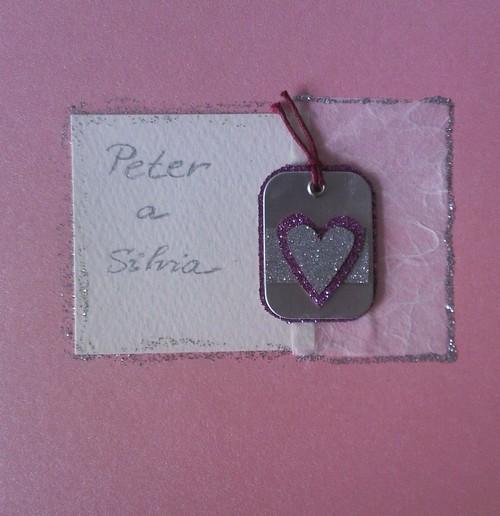 Peter a Silvia - Vlastnoručne vyrobené oznámenia