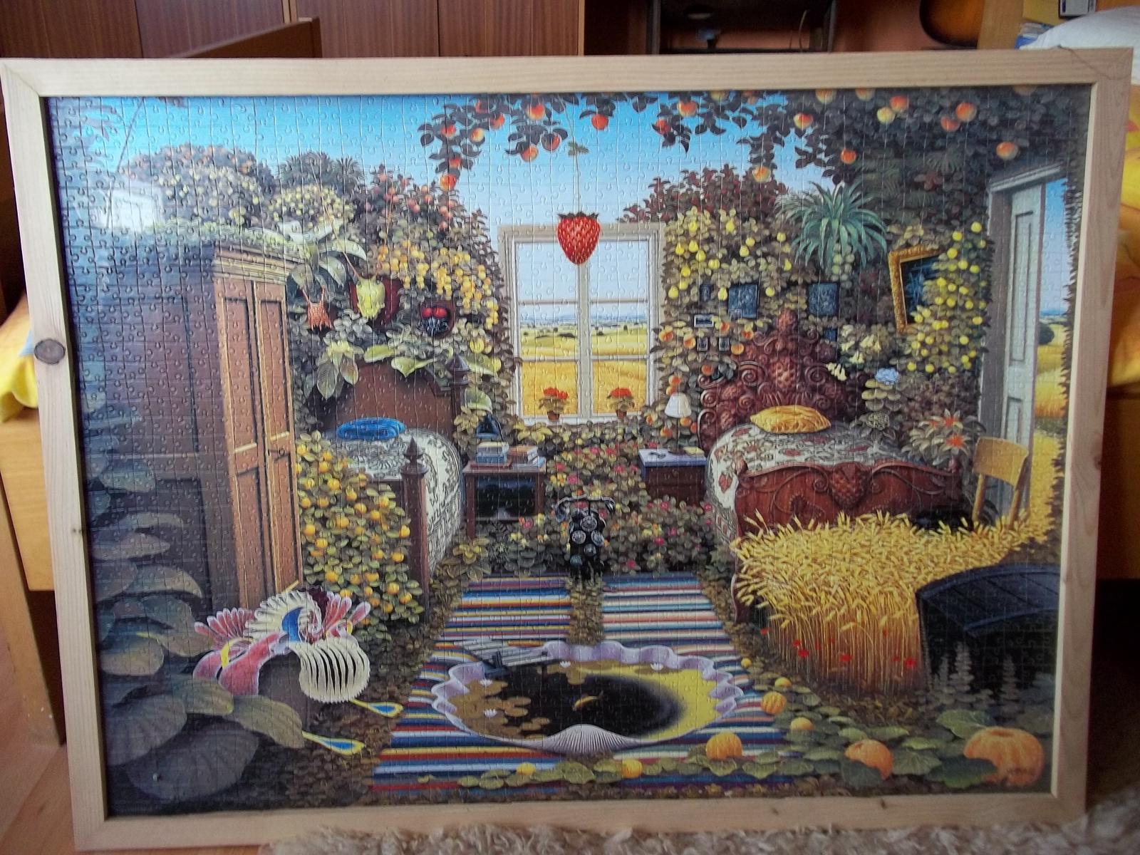 Puzzle v drevenom ráme - Obrázok č. 1